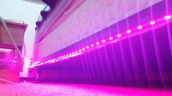 Motion-activated bed lighting system for nighttime wandering
