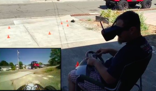 Drive an RC car with first-person view