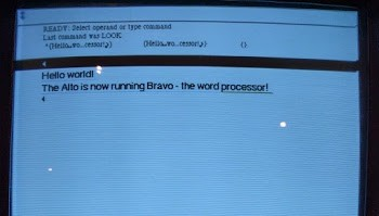 'Bravo' is the Alto's WYSIWYG text editor. It supports multiple fonts, among other features.