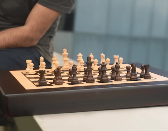 Square Off is a chess board with a high-tech twist
