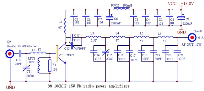 15W Transmitter Power Amplifier 88-108MHz