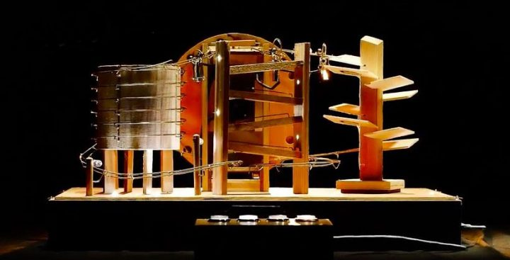 These boxes make music out of metal and wood