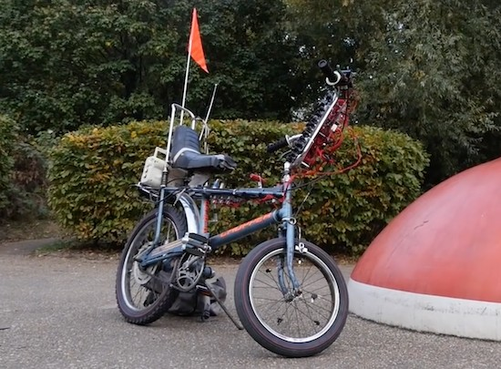 The Synth Bike is a mobile music machine
