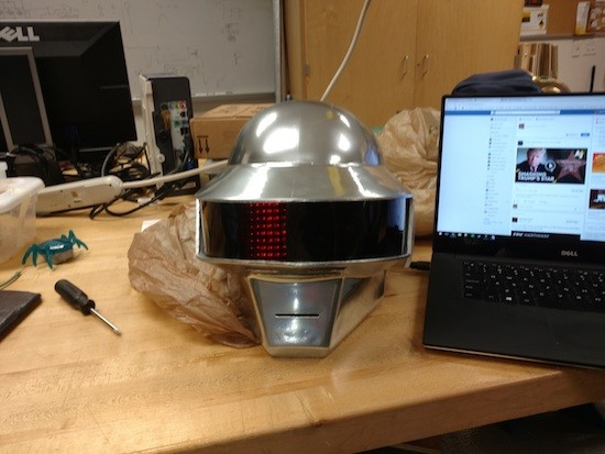 An awesome 3D-printed Daft Punk helmet