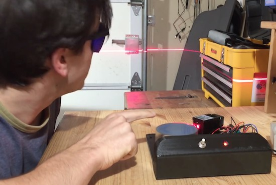 "Building a ""laser sky"" effect generator with Arduino"