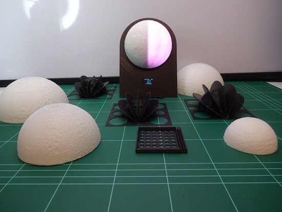 A 3D-printed lunar phase clock for your nightstand
