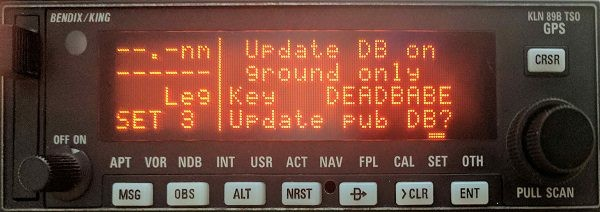 Updating the KLN89B