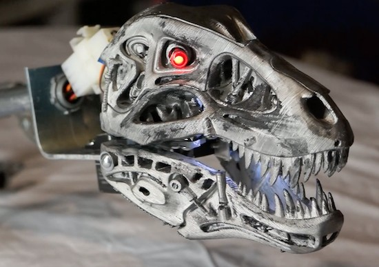 The Rex800 looks like a dinosaur Terminator