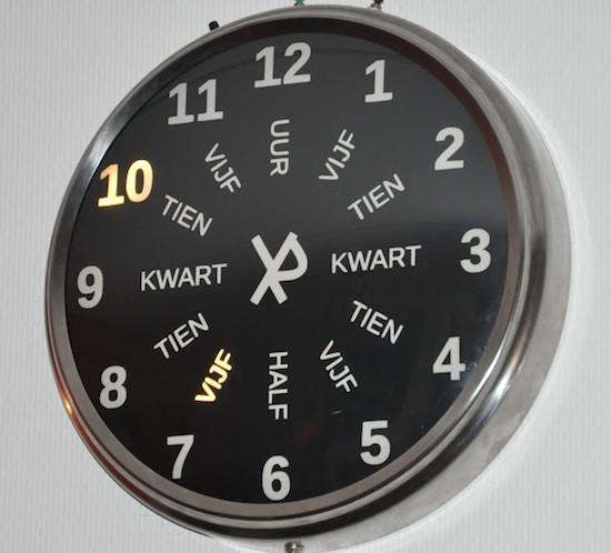 An Arduino round word clock