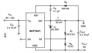 Designing Applications with MCP16331 High-Input Voltage Buck Converter