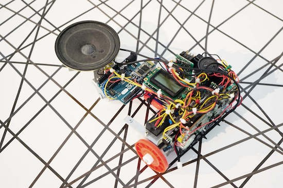 This robot is a cool new way to use cassette tapes!