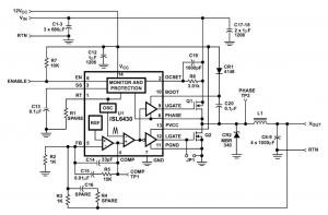 Using the ISL6430 in DC-DC Converters for Microprocessors in Gateway Applications