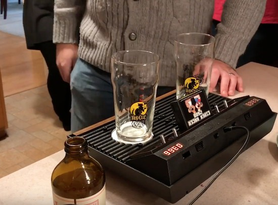 Turn an Atari 2600 into an electronic drink racer and timer