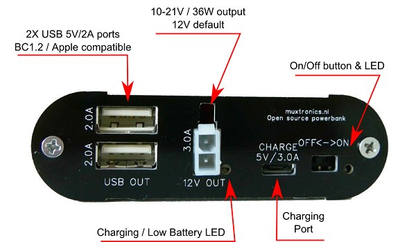 Muxtronics open source 12V powerbank