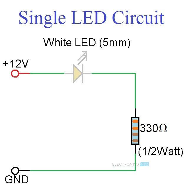Simple LED Circuits Circuit 1