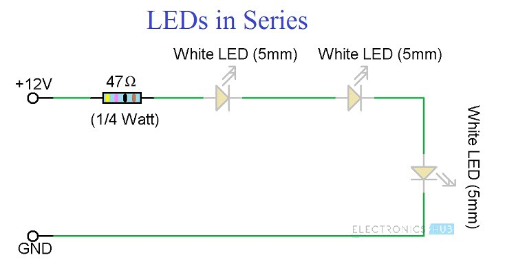 Simple LED Circuits Circuit 2