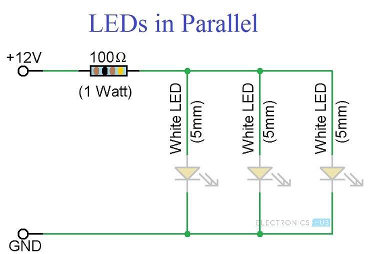 Simple LED Circuits Circuit 3