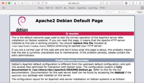 Default Apache Debian Page
