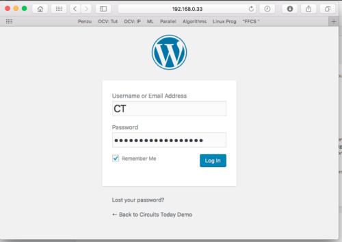 Wordpresss Installation