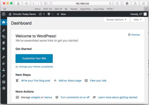 WP Customization Page