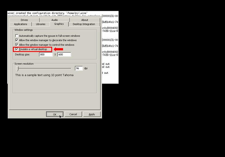 Configure Wine inside installation ExaGear on Retropie