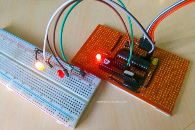 Simple LED Projects Using AVR Microcontroller