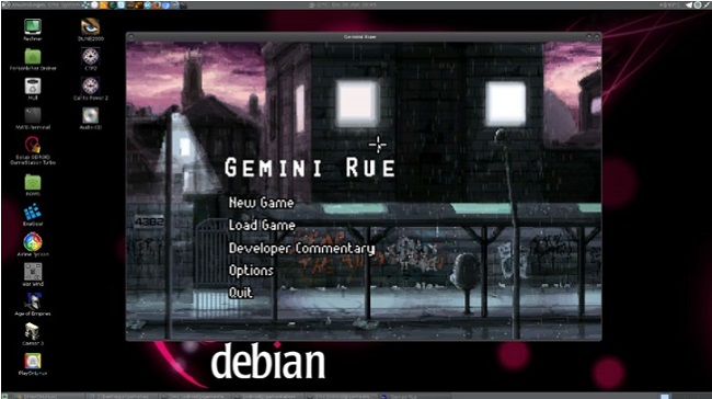 playing the indie adventure game Gemini Rue on the ODROID-xu3/ xu4 natively under Linux