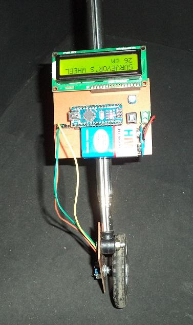 Measuring Wheel/Surveyor's Wheel Using Arduino & Rotary Encoder
