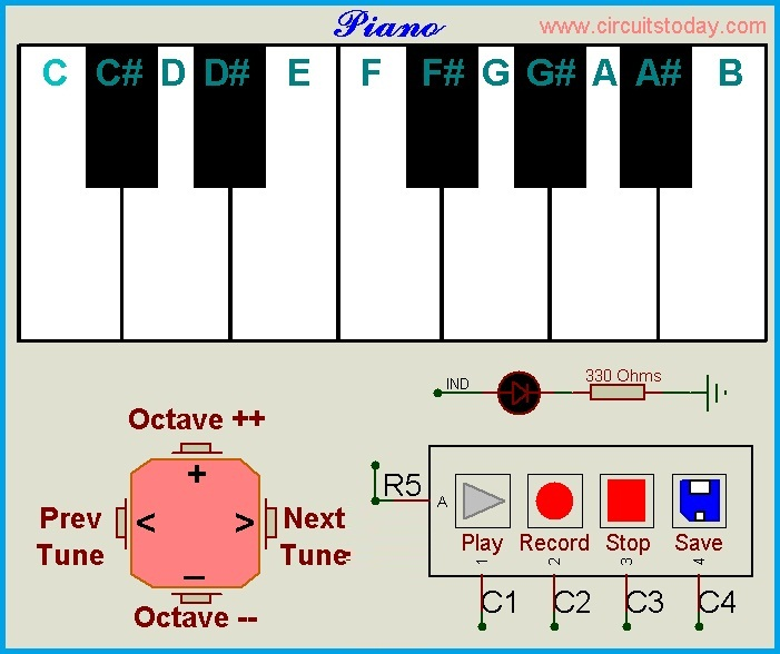 Piano Notes Generator Using ATMEGA8