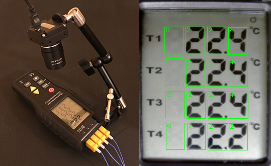 Dumb thermometer gets digital output