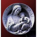 Madonna and Child Round Plaque
