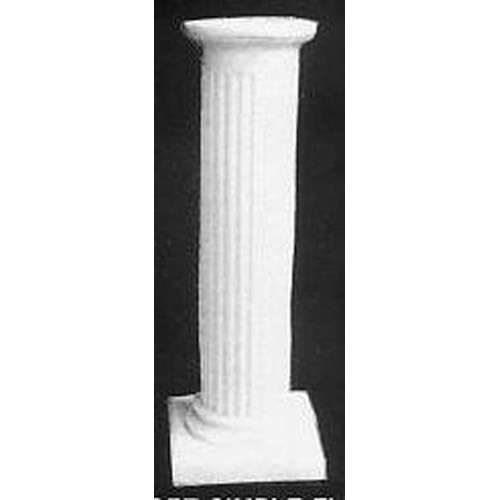 Short Simple Fluted Pedestal