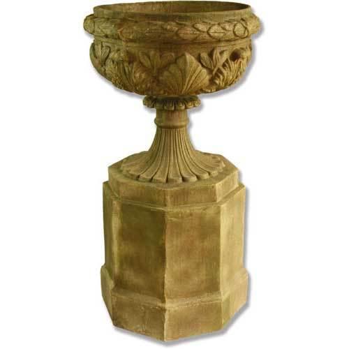 Regency Urn On Pedestal 46""