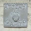 Beware Of Cat Plaque