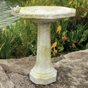 Eight Sided Birdbath w/birds