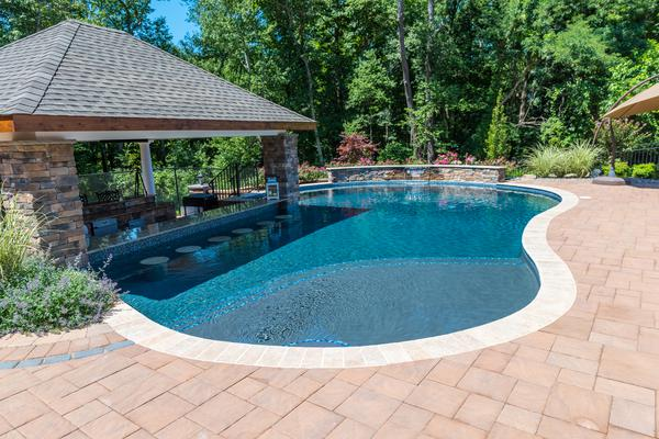 Gunite Swimming Pool Designs Entrancing Gunite Swimming Pool Builders  Elite Landscapes Design Inspiration