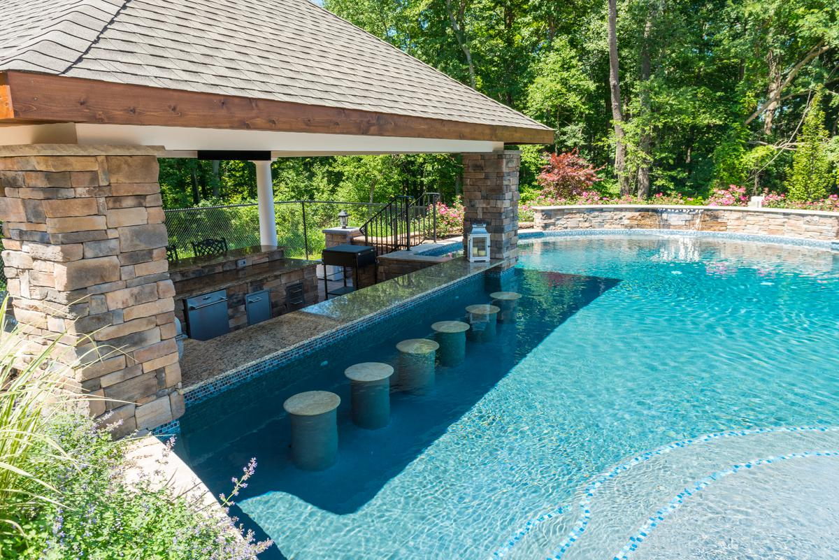 What is a gunite pool elite landscapes for Gunite pool design ideas