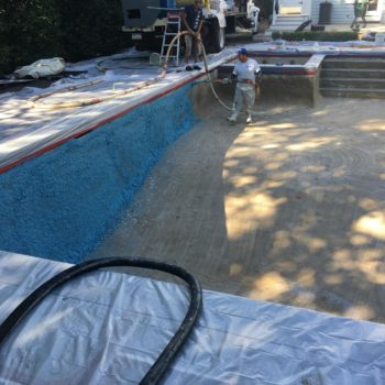 Step 9 - Gunite pool construction