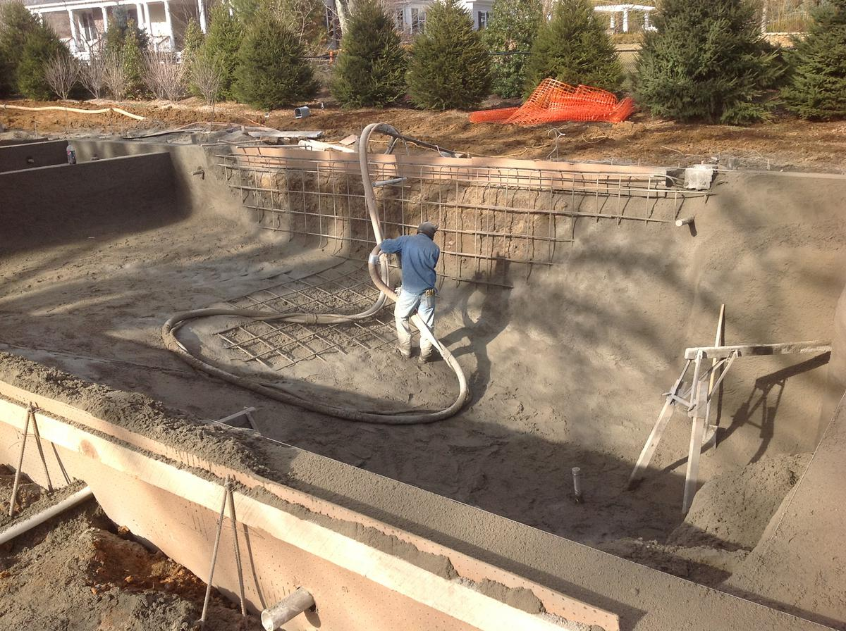 How Is A Gunite Pool Constructed Elite Landscapes
