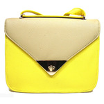 Main image, front view of Candy Block Crossbody in Yellow color option