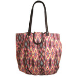 Front view of Navajo Desert Tote in pink color option