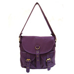 Front view of Every Switch Way Convertible Handbag Backpack in Purple color option