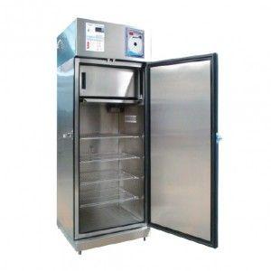 Refrigerador vertical de 14 pies para vacunas y biológicos de acero inox. 1 puerta sólida Cat. REF-RVASCV-14 RefriMed