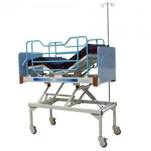 Cama pediátrica de 5 posiciones neumática Mod. Soft Care P0021 Cat AMP-P0021C-N Ampesa
