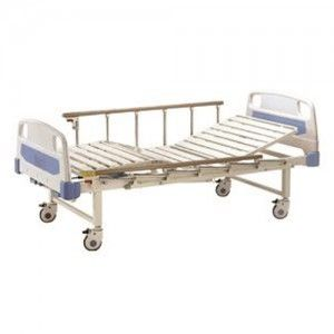 Cama para hospital manual de 3 secciones con 2 manivelas cat MEA-B16 Medea
