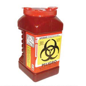 Recolector De Polipropileno Para Punzocortantes Color Rojo Capacidad Volumen: 3.0 Lts. Cat A1C-PC-3R A1 Contenedores