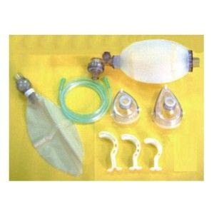 Resucitador adulto de 1,600 ml silicon con mascarillas #3 Y #5  Cat. SHM-72102B Shinmed