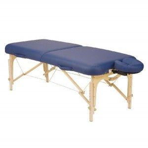 Mesa para masaje plegable SPIRIT II  zafiro con soporte para cabeza Cat. DYN-ESMT1-SF