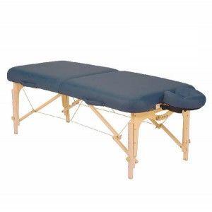 Mesa para masaje plegable SPIRIT II azul místico con soporte para cabeza Cat. DYN-ESMT1-MB