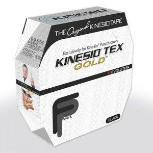 Cinta para corrección muscular kinesio gold 5.08 cm x 31.39 metros negro nano-touch Cat. DYN-KTGN45125